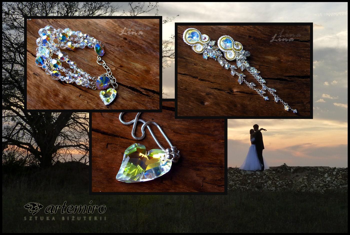 Biżuteria ślubna z kryształków Swarovskiego