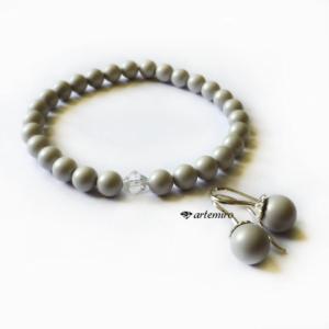Bransoletka Swarovski Pearl Pastel Grey z kryształkiem