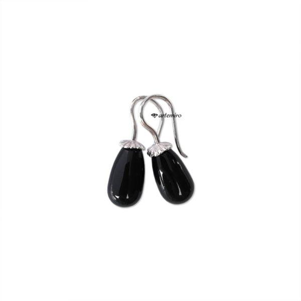 Kolczyki perełki czarne Swarovski Pearl Mystic Black srebrne