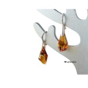 Kolczyki Swarovski Crystal Copper srebrne
