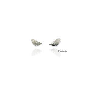 kolczyki sztyfty wkrętki pióra piórko srebrne