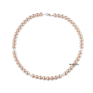 Naszyjnik Swarovski Crystal Peach Pearl