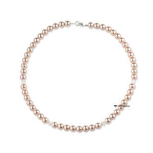 Naszyjnik z pereł Swarovski Crystal Peach Pearl