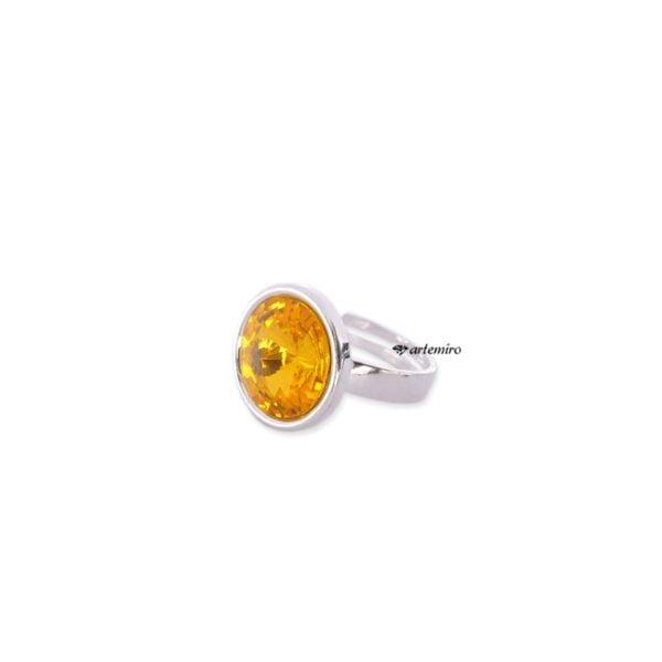 Pierścionek Swarovski Crystals rivoli Sunflower srebrny