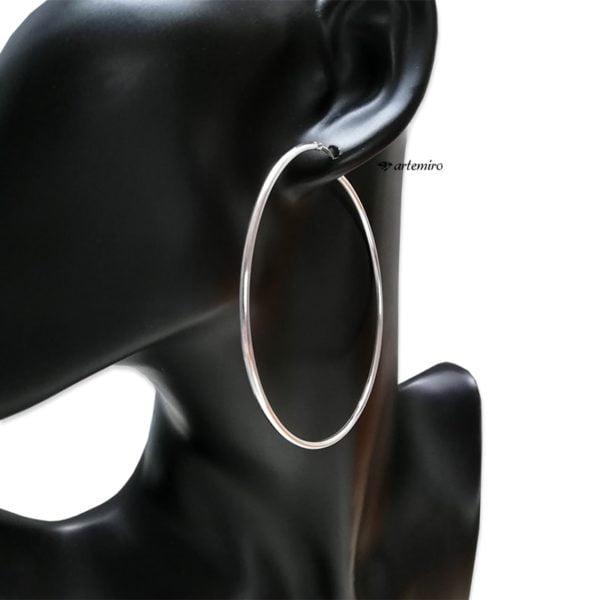 duże kolczyki koła srebrne