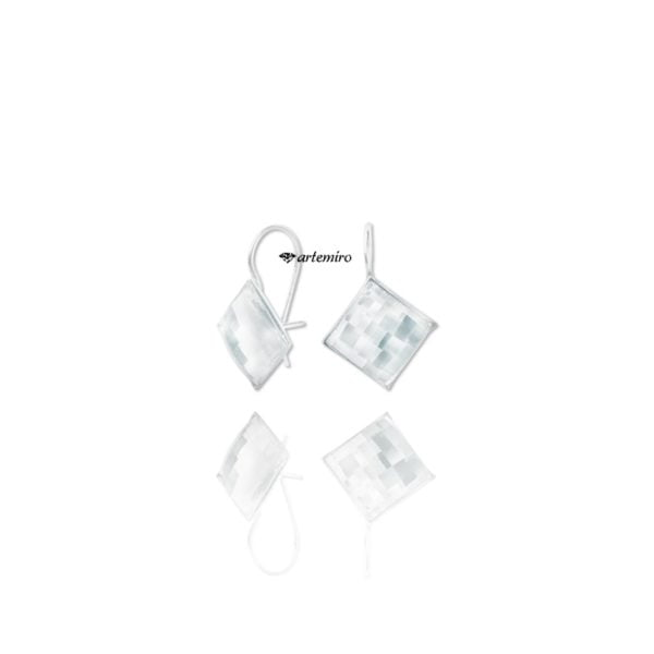 srebrne kolczyki swarovski crystal