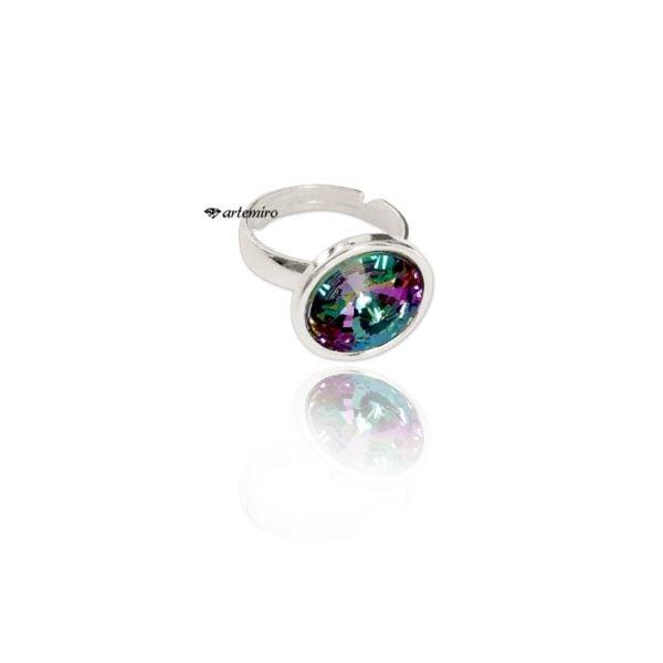 Srebrny pierścionek Swarovski Crystals rivoli Vitrail Light