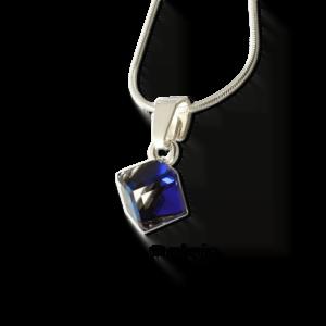 Zawieszka Swarovski kostka Bermuda Blue srebrna