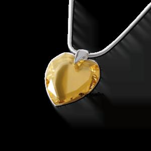 Zawieszka Swarovski serce Golden Shadow srebrne