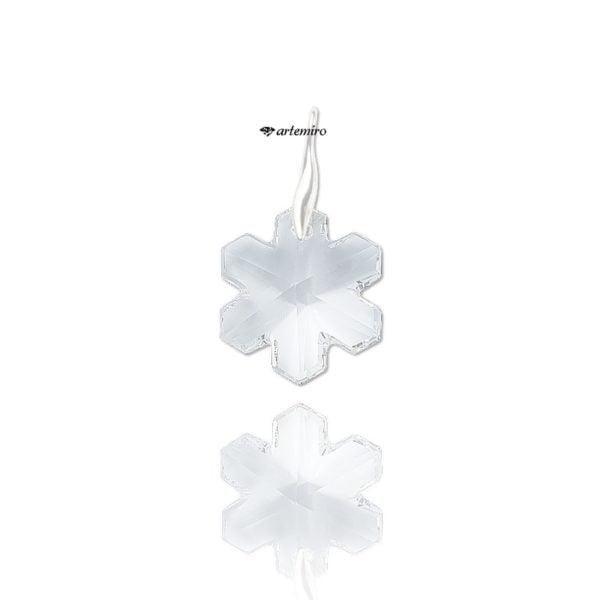 srebrna zawieszka swarovski śnieżynka
